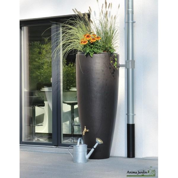 r cup rateur d 39 eau de pluie 300 litres 2 en 1 avec bac fleurs graf. Black Bedroom Furniture Sets. Home Design Ideas