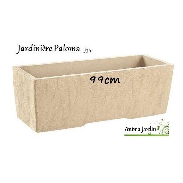 jardini re en b ton vibr 99cm paloma couleur pierre. Black Bedroom Furniture Sets. Home Design Ideas