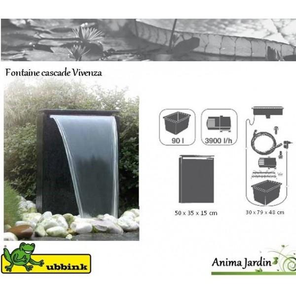 fontaine cascade vicenza leds chute d 39 eau d coration achat vente ubbink. Black Bedroom Furniture Sets. Home Design Ideas