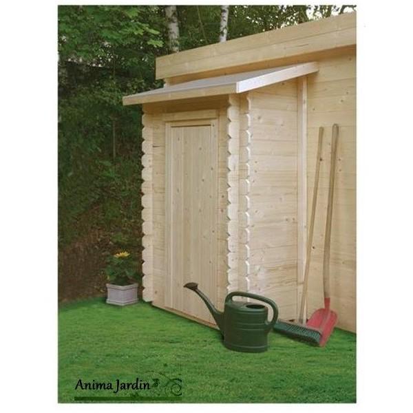 Remise outils 1 porte adossable pour abri de jardin solid achat vente - Achat abri de jardin ...