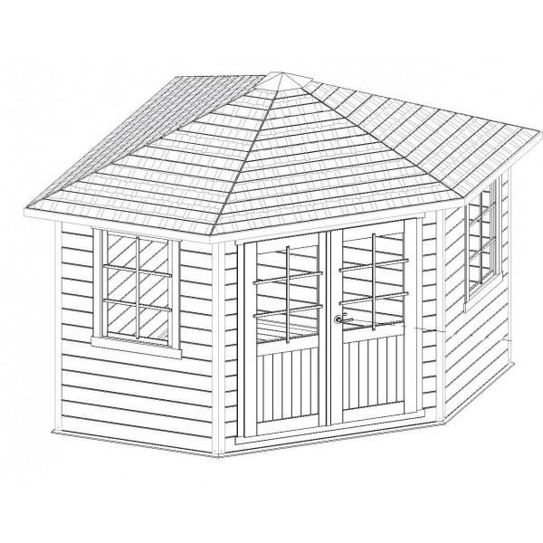 abri de jardin d 39 angle 28mm solid nancy s8207 pyramid. Black Bedroom Furniture Sets. Home Design Ideas