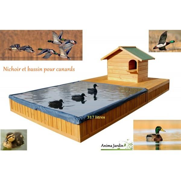Abri pour canard avec bassin sp cial canard maison for Maison plastique exterieur pas cher