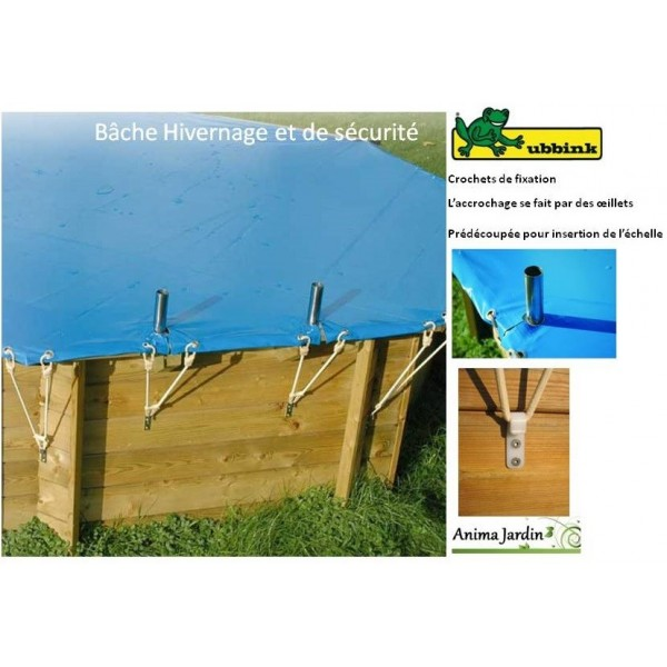 B che hivernage pour piscine 400x610 couverture de for Bache piscine securite