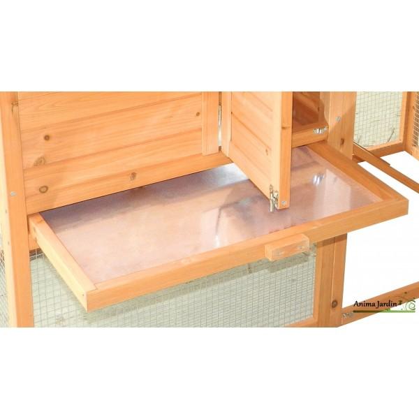 poulailler 5 8 poules voli re pondoir bois teint pas cher achat vente. Black Bedroom Furniture Sets. Home Design Ideas