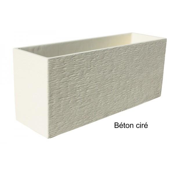 Jardini re futura 90x27 ivoire en b ton cir for Hydrofuge beton cire