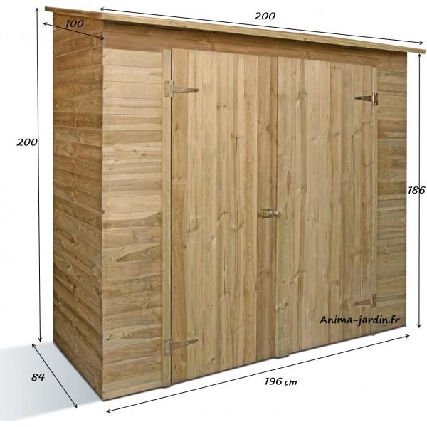 Remise outils 2 portes savona armoire de rangement for Achat abris de jardin