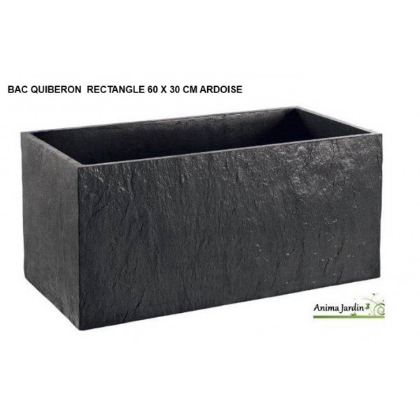 Bac jardini re en b ton cir 60cm quiberon couleur for Salon de jardin en beton cire