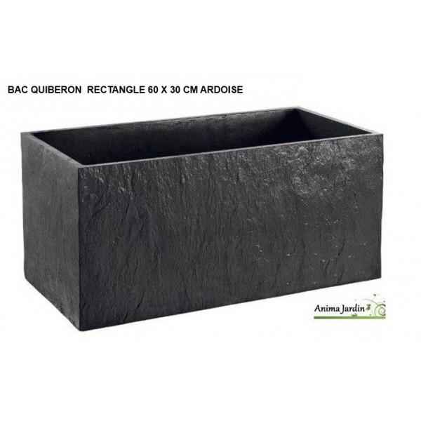 bac jardini re en b ton cir 60cm quiberon couleur ardoise achat. Black Bedroom Furniture Sets. Home Design Ideas
