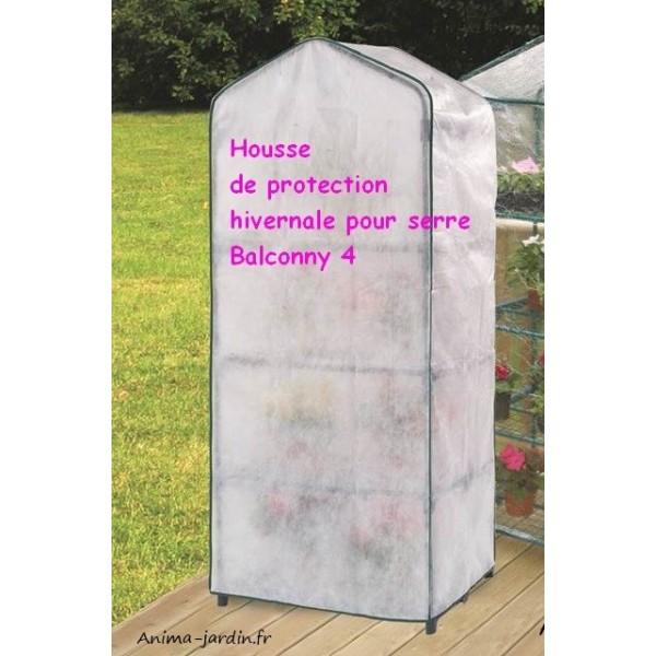 Housse hivernage pour serre de balcon nortene balcony 4 cover for Housse pour salon de jardin bas