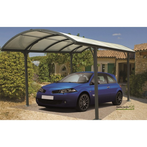 abri voiture aluminium carport toit arrondi achat vente pas cher. Black Bedroom Furniture Sets. Home Design Ideas