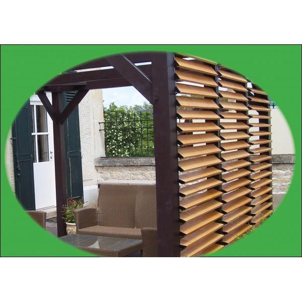 Terrasse Ombragée Les Plantes à Choisir: Belle Pergola Toiture Ombragée, Avec Ventelles, Carport Design