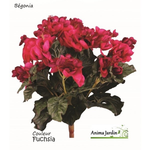 b gonia artificiel piquet fleuri fleur artificielle pas cher achat. Black Bedroom Furniture Sets. Home Design Ideas