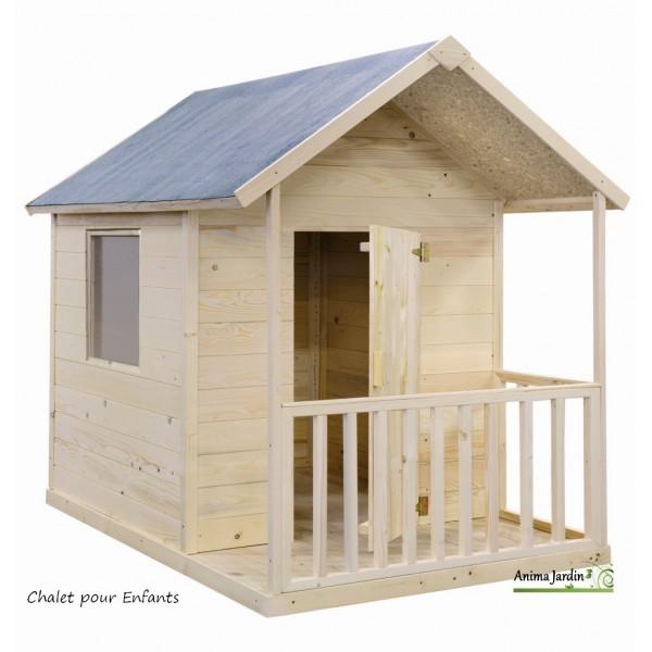 Maisonnette en bois pour enfants kangourou chalet pas cher - Insert a bois pas cher ...