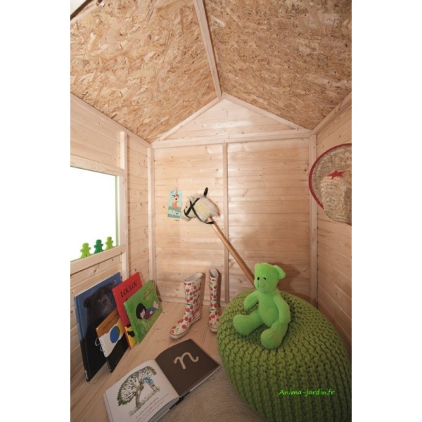 maisonnette en bois pour enfants kangourou chalet pas cher. Black Bedroom Furniture Sets. Home Design Ideas