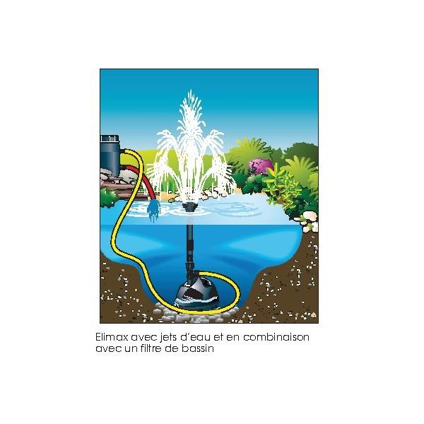Pompe bassin de jardin elimax jets d 39 eau achat vente pas for Bassin eau jardin