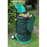 Chariot, poubelle de jardin, ramasse feuilles, pas cher, pliable