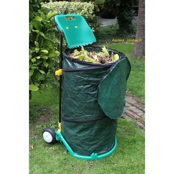 Chariot poubelle de jardin ramasse feuilles pas cher pliable - Poubelle automatique l pas cher ...