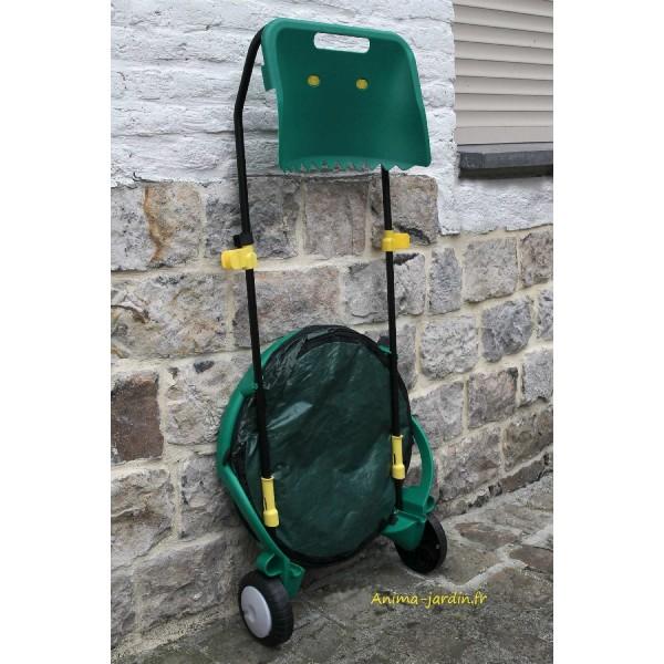 Chariot poubelle de jardin ramasse feuilles pas cher pliable - Poubelle salon ...