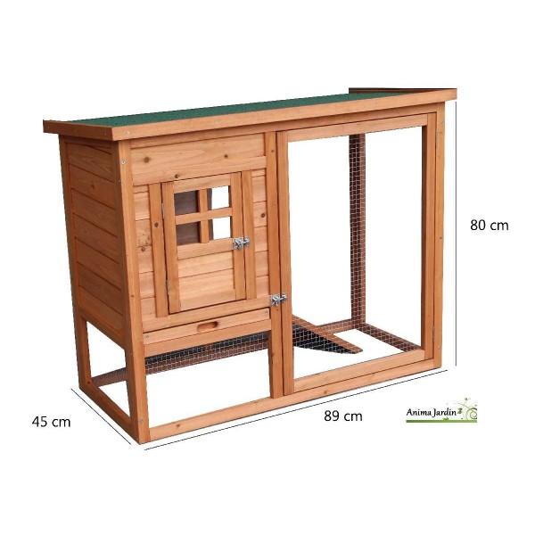 poulailler 2 poules voli re grillag e bois teint pas. Black Bedroom Furniture Sets. Home Design Ideas