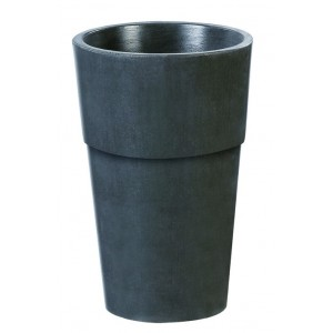 Bac vase pot rond en b ton cir grandon 294 for Salon de jardin en beton cire