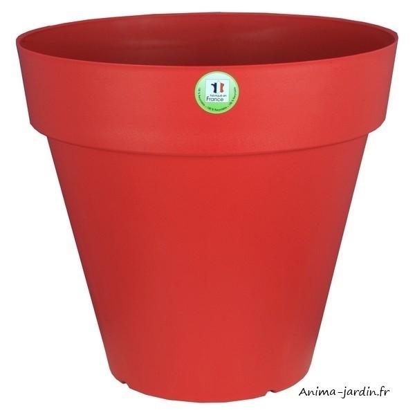 Pot fleurs ext rieur terrasse soleilla 70cm riviera for Pot gris exterieur
