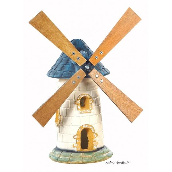 moulin de jardin ardoise d coration de jardin 56cm pas. Black Bedroom Furniture Sets. Home Design Ideas