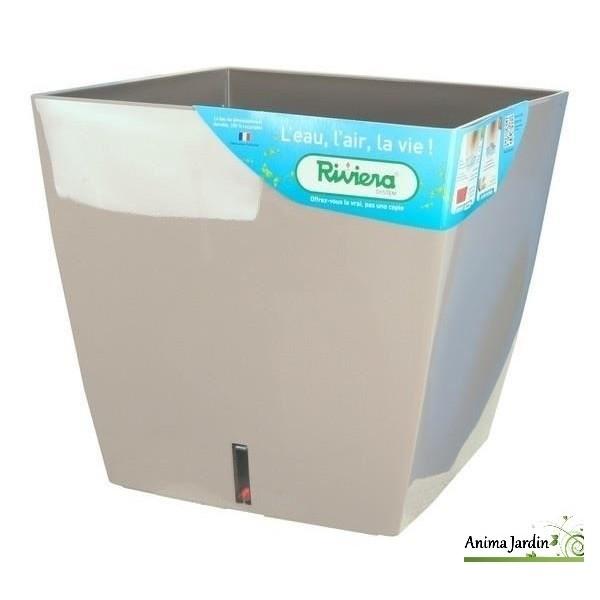 Bac r serve d eau carr 35cm eva riviera bac plantes for Bac piscine pas cher
