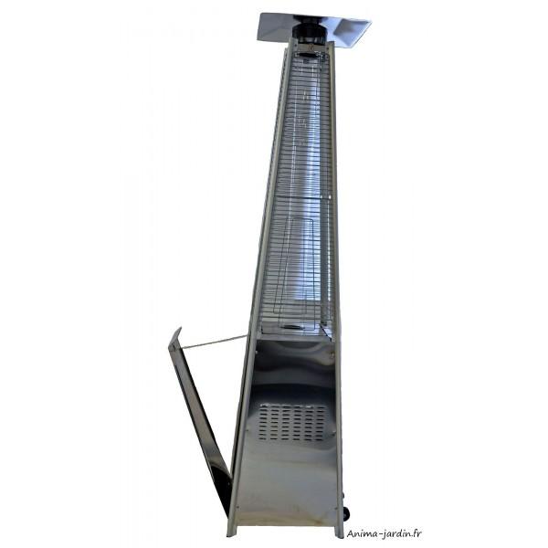 Parasol chauffant gaz ext rieur sun flamme pyramide design moderne - Parasol chauffant exterieur ...