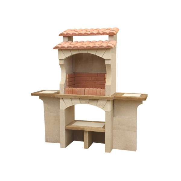 Barbecue ext rieur en pierre traditionnel en brique - Barbecue beton cellulaire exterieur ...