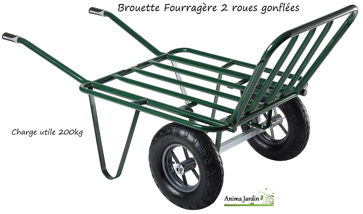 brouette fourrag re 2 roues gonfl es gros volume agricole achat vente. Black Bedroom Furniture Sets. Home Design Ideas