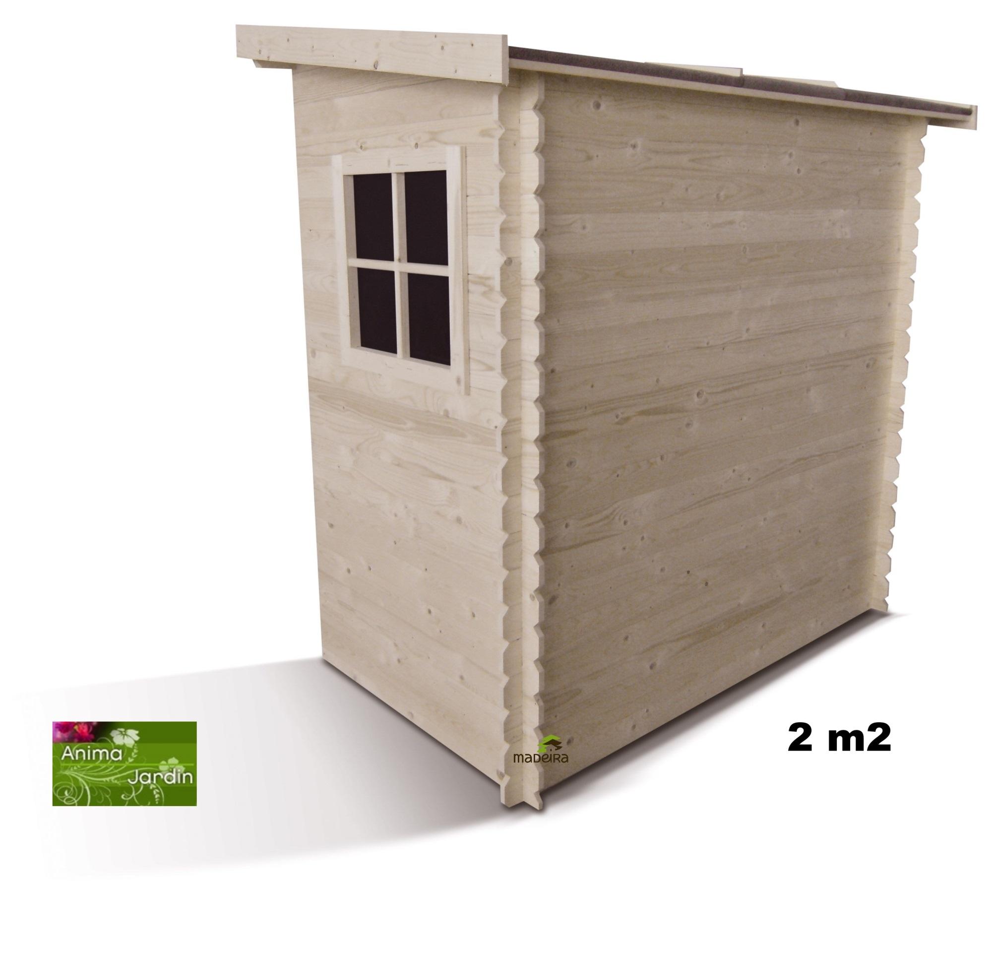abri bois range v lo adossable 19 mm jardin madeira pas cher. Black Bedroom Furniture Sets. Home Design Ideas