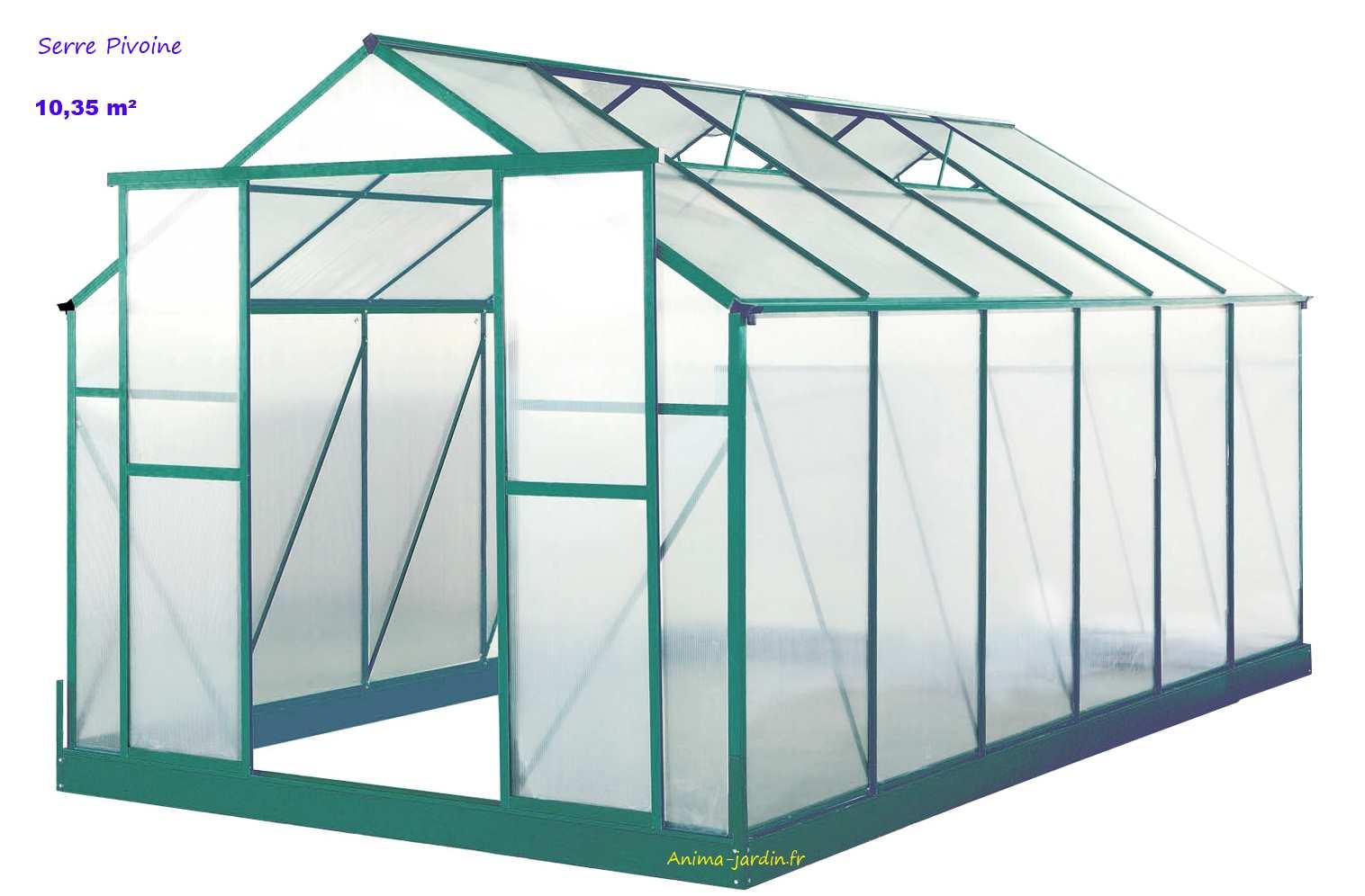 serre de jardin en polycarbonate pivoine 10 35 m achat vente. Black Bedroom Furniture Sets. Home Design Ideas