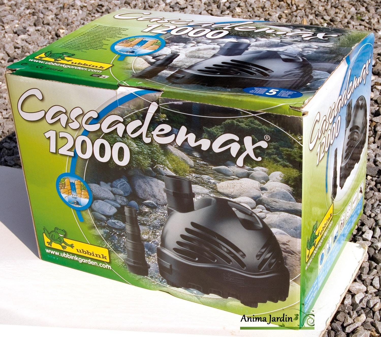 Pompe pour bassin cascademax 12000 litres heure ubbink for Bache bassin jardiland