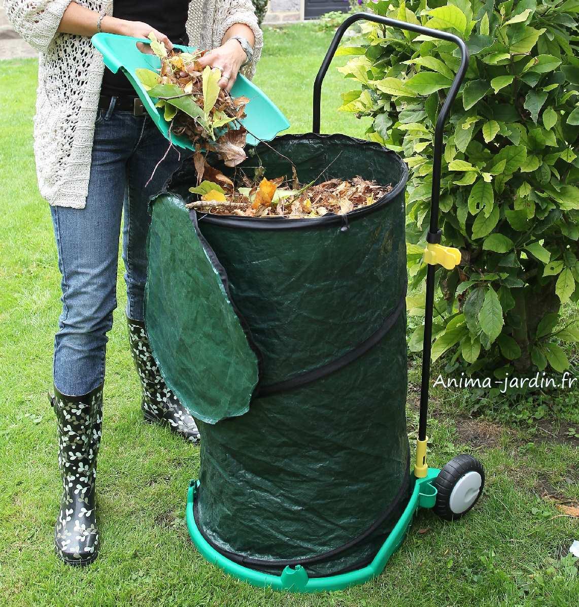 Chariot poubelle de jardin ramasse feuilles pas cher - Poubelle a roulette pas cher ...