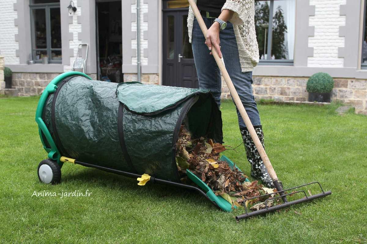 chariot poubelle de jardin ramasse feuilles pas cher. Black Bedroom Furniture Sets. Home Design Ideas