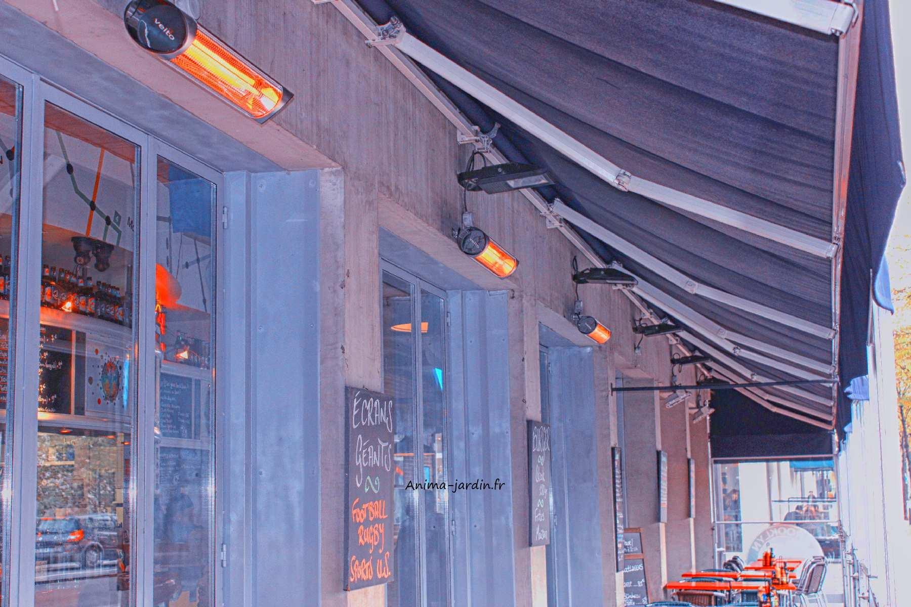 Chauffage de terrasse infrarouge finest chauffe terrasse for Chauffage mural quigg