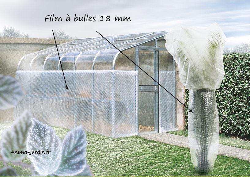 Film bulles 18mm couverture pour serre contre le froid for Protection plante gel