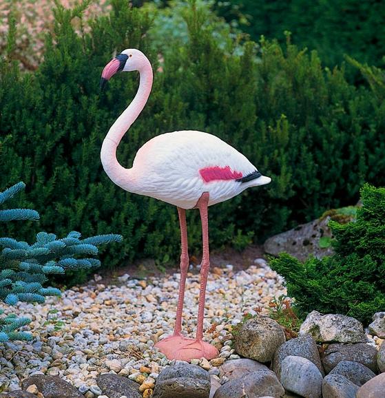 Flamant rose 90 cm en plastique ubbink oiseau migrateur for Sujet deco jardin