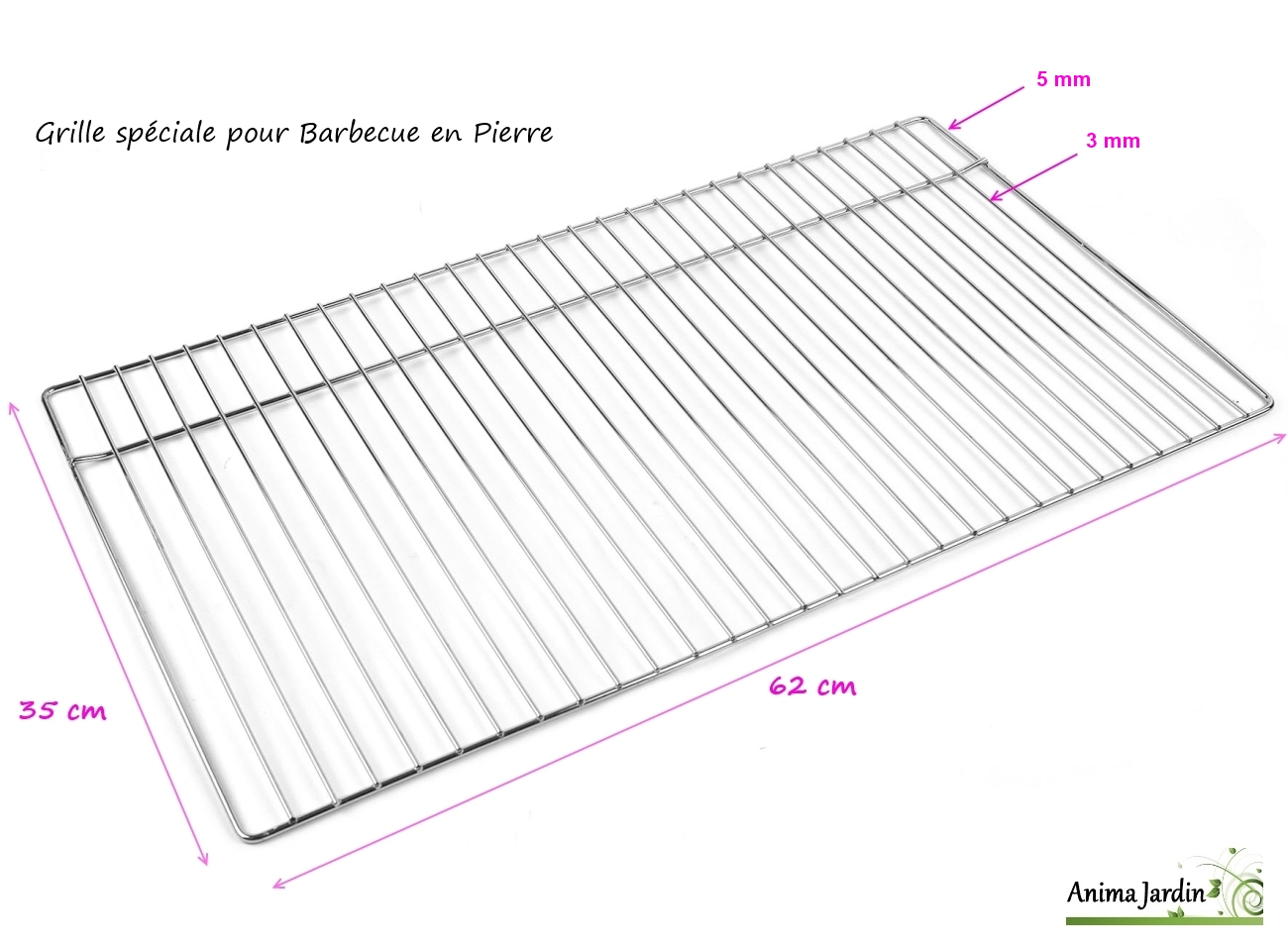 grille barbecue 62 x 35 cm grille simple de cuisson en. Black Bedroom Furniture Sets. Home Design Ideas