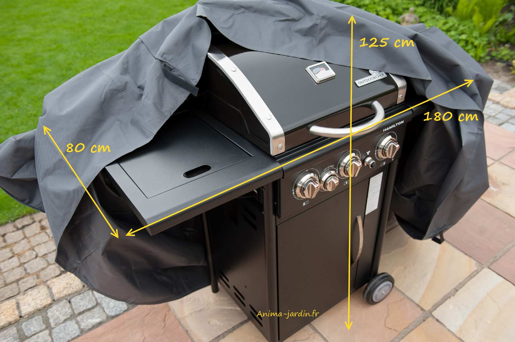 Housse de protection barbecue gaz plancha 180 cm imperm able for Housse barbecue