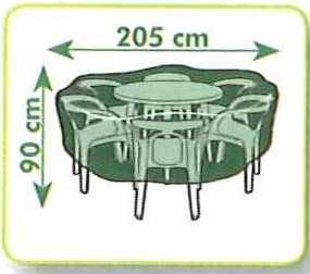 Housse de protection salon de jardin, table ronde, imperméable