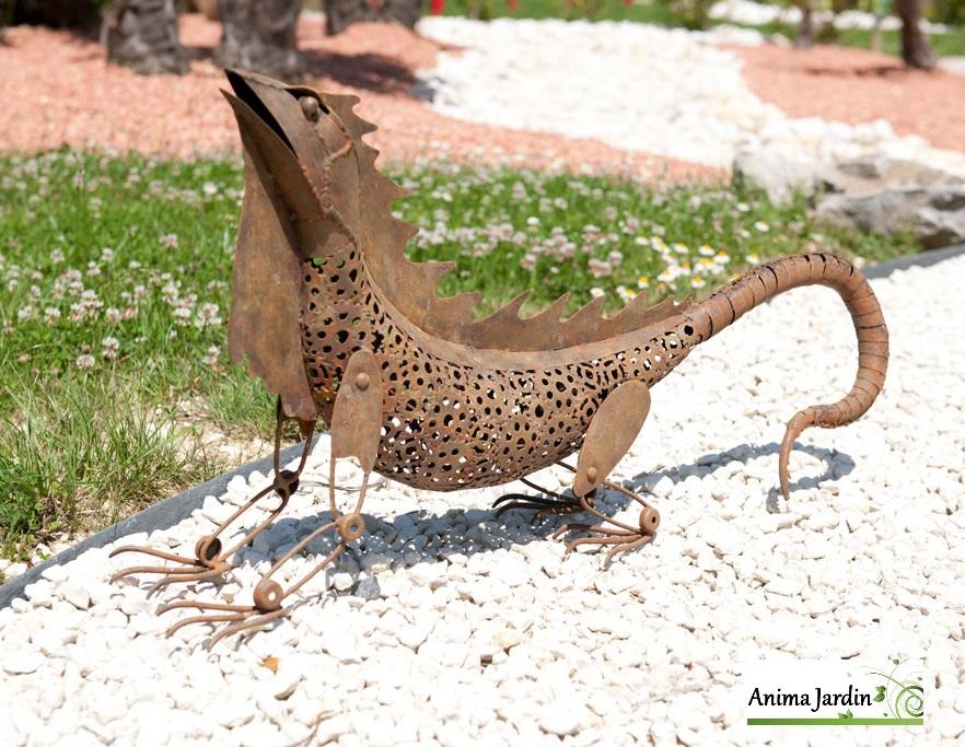 Iguane en m tal animal d coratif nort ne ext rieur for Sujet deco jardin