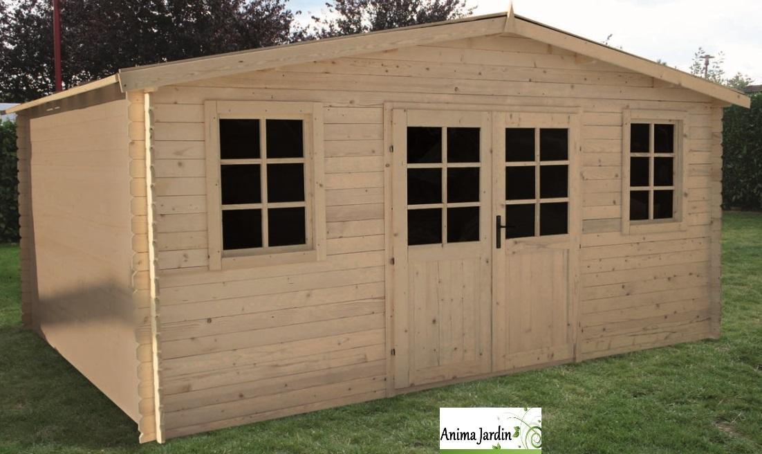 Carport bois moins cher for Abri de jardin en bois traite autoclave pas cher