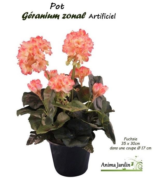 Jardiniere De Geraniums Artificiels Fleur Artificielle