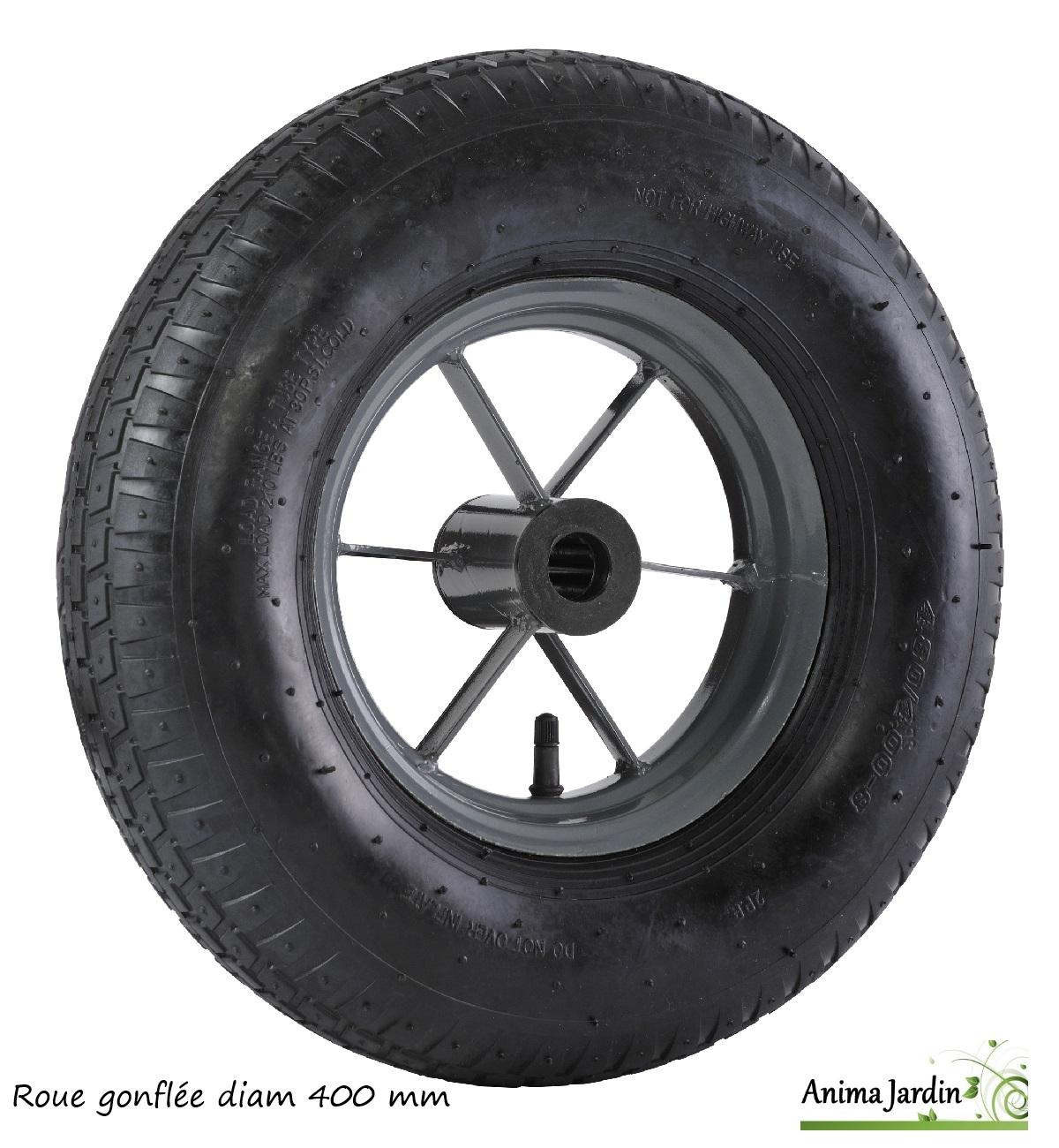 roue de brouette gonfl e 400 mm roue de rechange achat vente. Black Bedroom Furniture Sets. Home Design Ideas