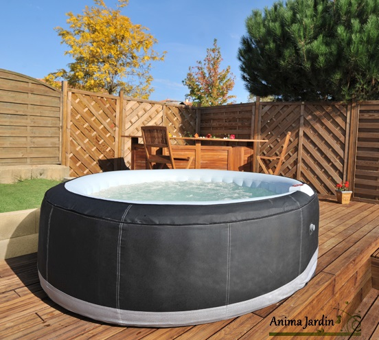 Spa gonflable 6 places egt sunbay jacuzzi achat vente for Piscine de jardin gonflable