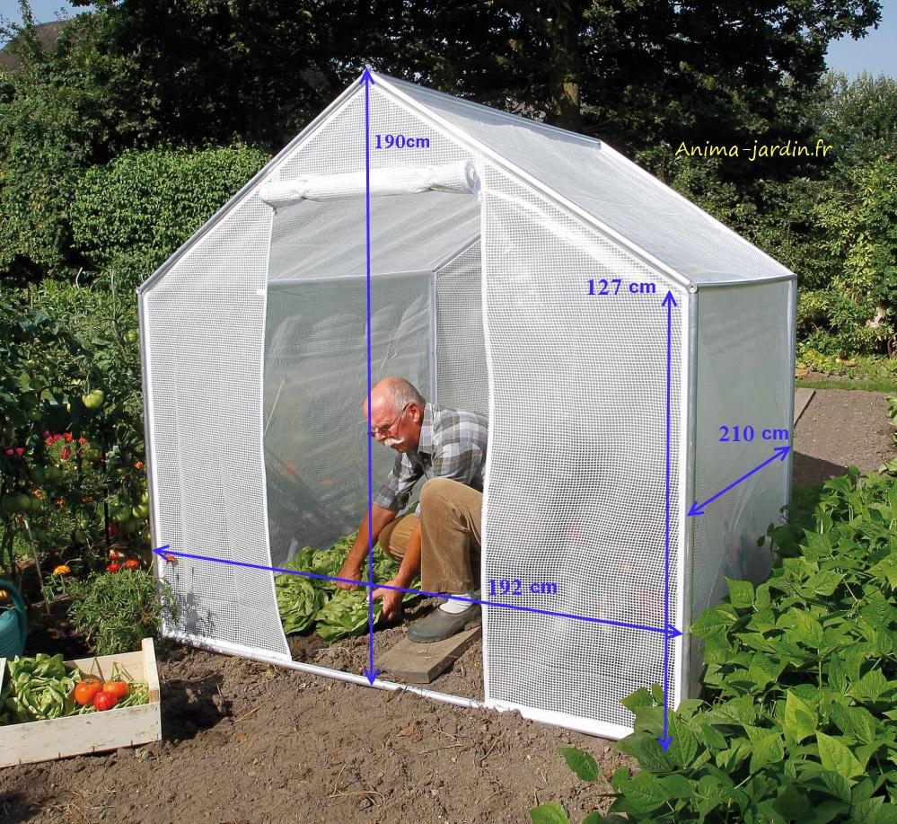 Petite serre de jardin 4m pour cultiver ses l gumes for Film plastique anti uv pour serre de jardin