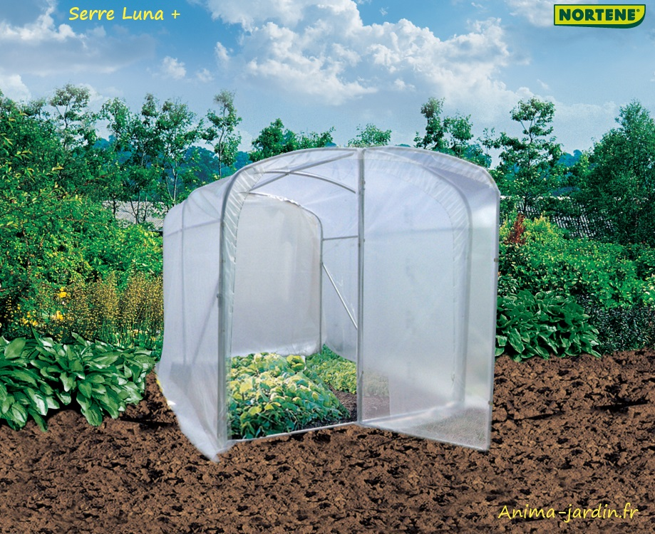 Serre tunnel luna 6m serre de jardin nortene de for Film plastique anti uv pour serre de jardin