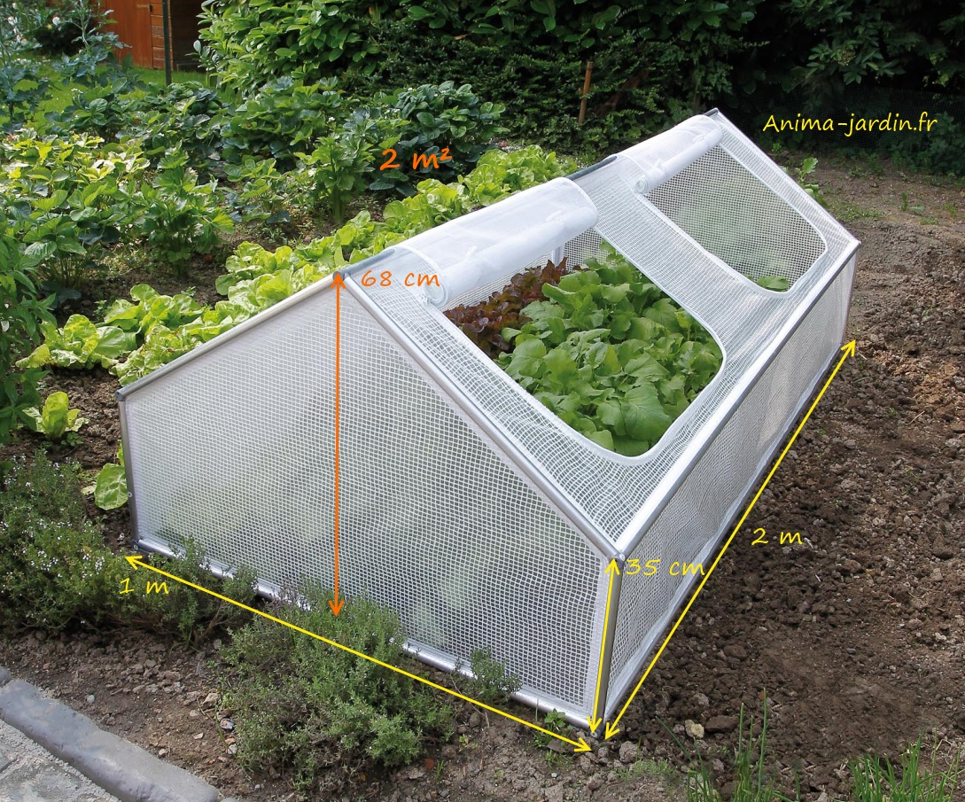 Serre chassis de jardin 2m pour cultiver des l gumes for Film plastique anti uv pour serre de jardin