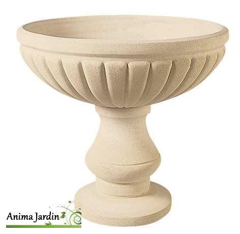 Vasque renaissance 76 cm pierre reconstitu e coupe contenant achat for Jardiniere vasque jardin